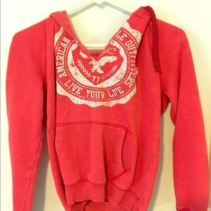 Bright red American Eagle hoodie